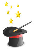 Magic hat. Vector illustration. Icon style Royalty Free Stock Photography