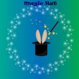 Magic hat, bunny ears Stock Image