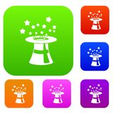 Magic hat with stars set collection Stock Photography