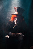 The Magic Hatter in Wonderland Royalty Free Stock Photography