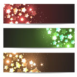 Magic header footer flyer collection Stock Photography