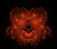 Magic Heart. Fractal illustration. Suitable for background, layer, etc Stock Image