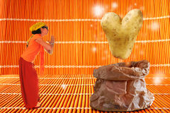 Valentine potato Stock Images