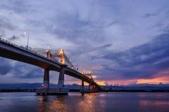 Magic Hour Bridge Royalty Free Stock Images