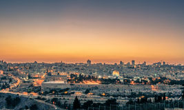 Magic Hour in Jerusalem Stock Photography