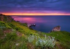 Magic hour seascape Stock Images