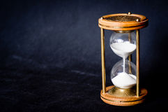 Magic Hourglass With Blue Shiny Flares Royalty Free Stock Images