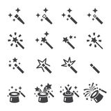 Magic icon set. Web icon illustration design vector sign symbol Stock Image