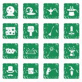 Magic icons set grunge Stock Image