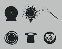 Magic Icons. Set of icons on a theme magic Stock Image