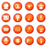 Magic icons vector set Stock Photo