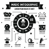 Magic infographic concept, simple style stock illustration