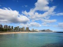 Magic Island Beach and Diamond Head Stock Photo