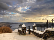 Magic Island Santorini Stock Photography