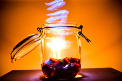 Magic in a jar Royalty Free Stock Photo