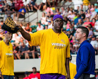 Magic Johnson, pitcher West All-Stars Royalty Free Stock Images