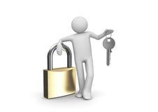 Magic key to unlock anything Stock Photo
