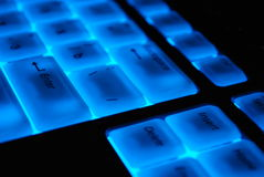 Magic keyboard. A magic keyboard in the darkness Royalty Free Stock Image