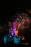 Magic Kingdom. Fireworks at Magic Kingdom, Orlando, Florida Stock Photo