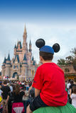 Magic Kingdom Castle Tourists Travel Stock Photography