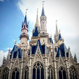 Magic kingdom castle. Where your dreams come true Royalty Free Stock Photography