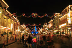 Magic Kingdom Christmas Stock Photography