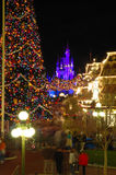 Magic Kingdom decorated for Christmas Royalty Free Stock Photo