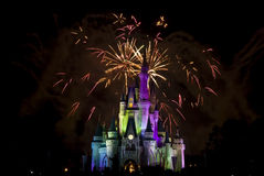 Magic Kingdom firework 2. Firework in Disney`s Magic Kingdom in Orlando Stock Photo