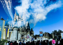 Magic Kingdom. With fireworks in Disney Royalty Free Stock Images