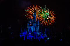 Magic Kingdom fireworks 1 Stock Photo
