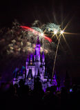 Magic Kingdom fireworks 7. Image of the Magic Kingdom Park castle with fireworks in the background Royalty Free Stock Images