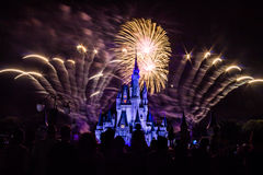 Magic Kingdom fireworks 9. Image of the Magic Kingdom Park castle with fireworks in the background Stock Photography