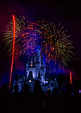 Magic Kingdom fireworks 10 Royalty Free Stock Image