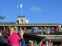 Magic Kingdom rail station Stock Image