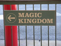 Magic Kingdom sign Royalty Free Stock Photo