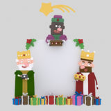 Magic kings banner. 3D. Nn3d Custom illustration, contact me Royalty Free Stock Image