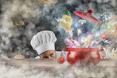 Magic kitchen Stock Photography