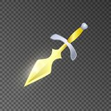 Magic knife isolated game element Royalty Free Stock Photography