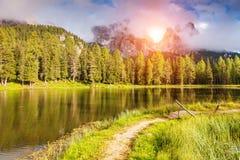 Magic lake in mountain stock photo