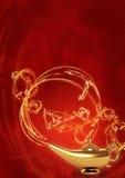Magic lamp. Symbol performance of desires - magic lamp Stock Images