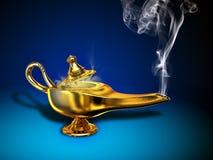 Magic Lamp. A magical lamp with white smoke. Digital illustration vector illustration