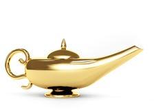 Magic lamp. Symbol performance of desires - magic lamp. Object over white vector illustration