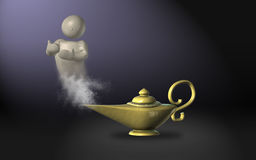 A magic lamp Royalty Free Stock Image