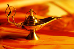 Magic Lamp. Concept power gold Royalty Free Stock Photos