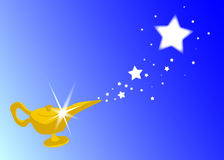 Magic Lamp. The magic lamp from the arabian nights royalty free illustration