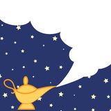Magic lamp and cloud Royalty Free Stock Photography