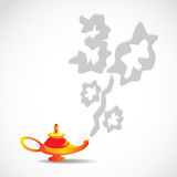 Magic lamp with discount of smoke. Magic lamp discounted thirty percent of the smoke vector illustration