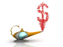 Magic Lamp Dollar Stock Photo
