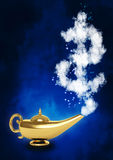 Magic lamp and dollar symbol Stock Photography