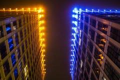 Magic light city stock photos